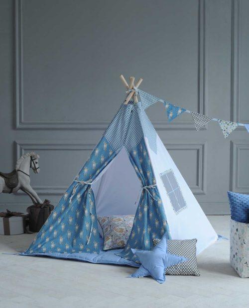 Вигвам для детей из ткани «Бэмби: Blue»