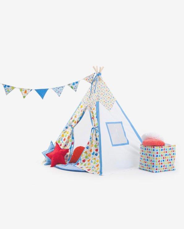 Вигвам-палатка «Монстрики на каникулах» - Вид сбоку