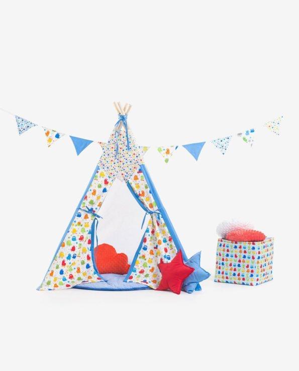 Вигвам-палатка из ткани «Монстрики на каникулах»