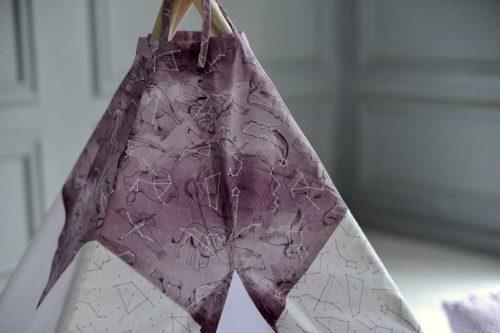 Вигвам «Звездное небо – Пурпур»