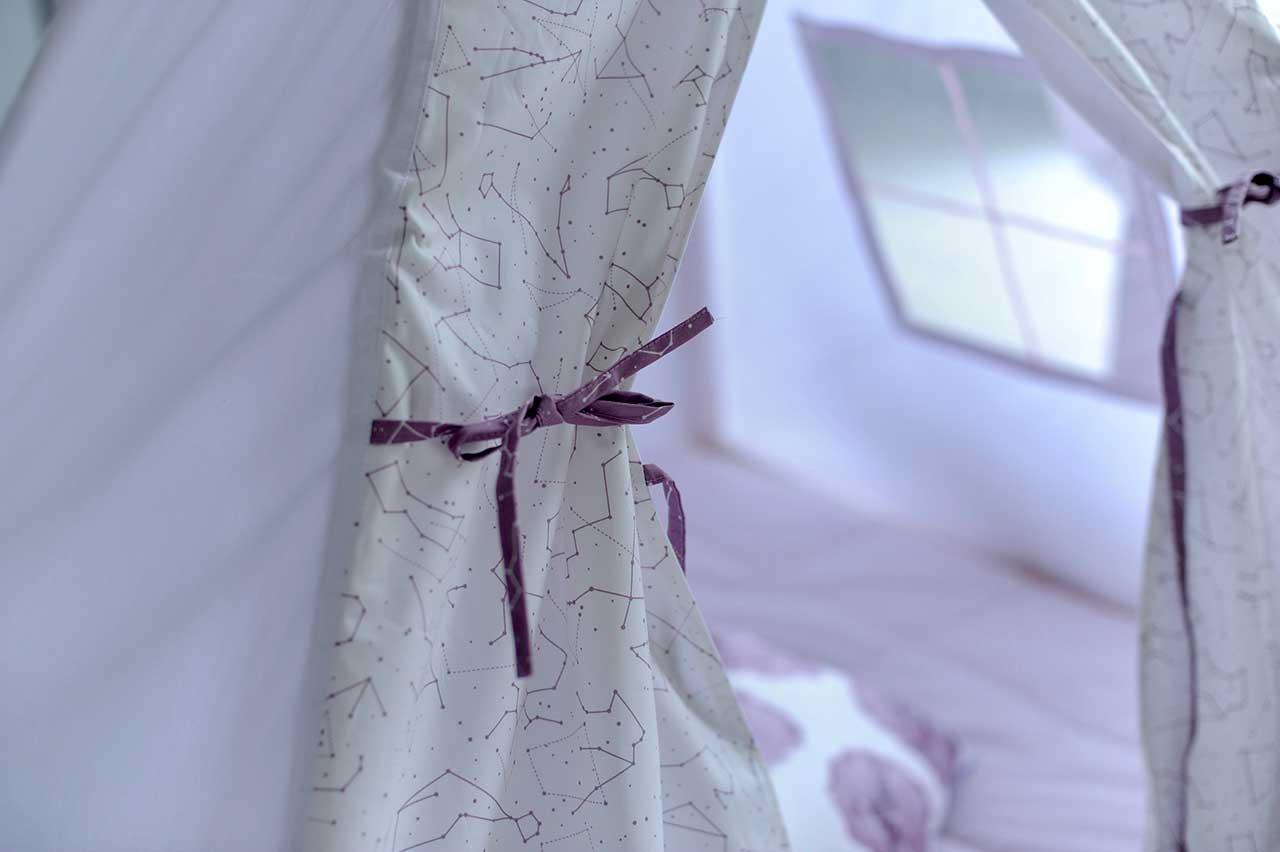 """Вигвам для девочек """"Звездное небо – Пурпур"""" - Детали"""