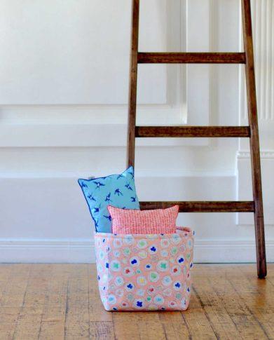 Корзина для игрушек из плотной ткани «Гнезда»