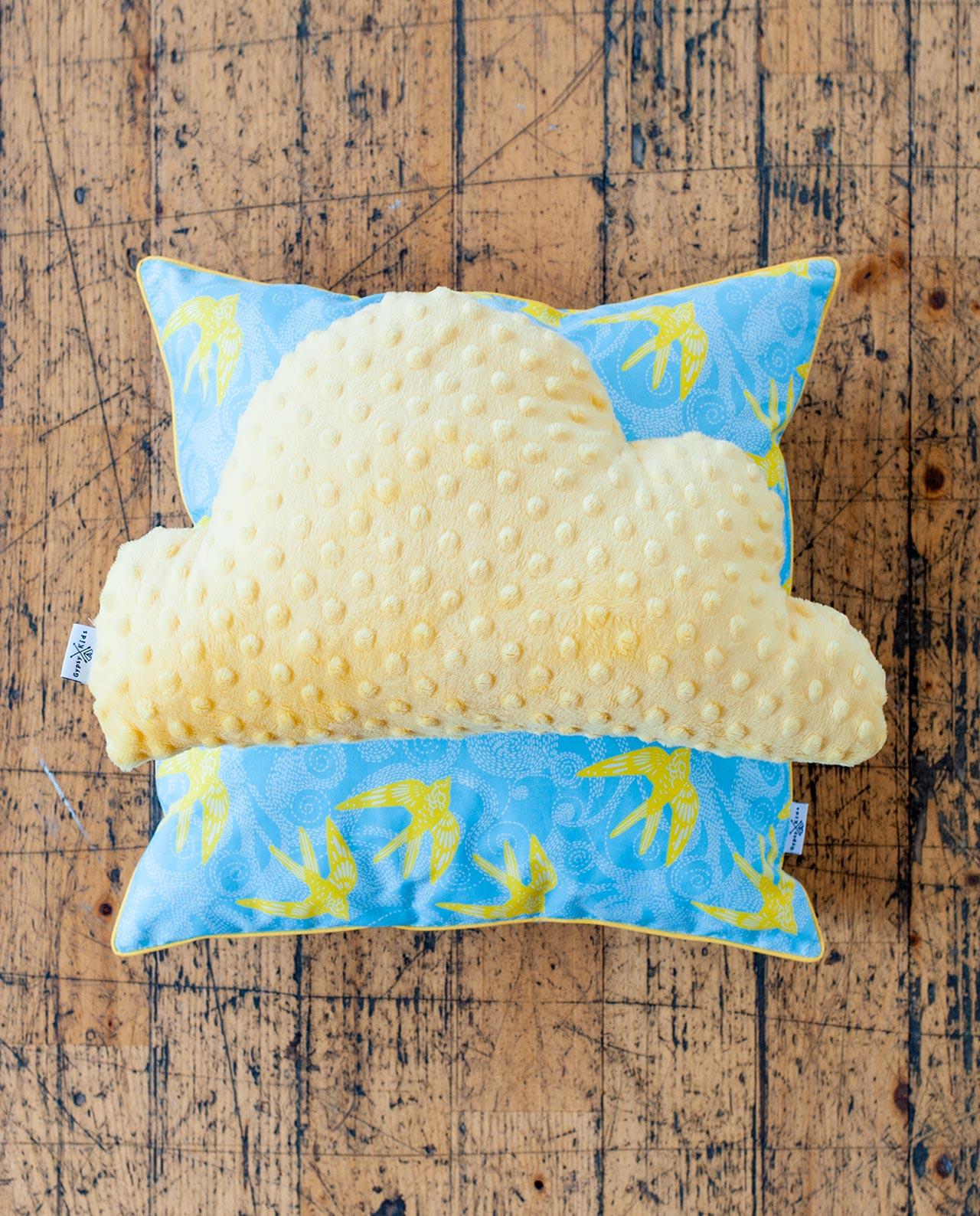 Подушечка квадратная «Лимонные ласточки»