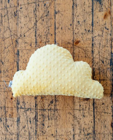 Подушка декор «Лимонное облачко»из мягкого плюша
