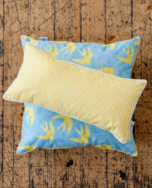 Подушки «Лимонные паруса» и «Лимонные ласточки»