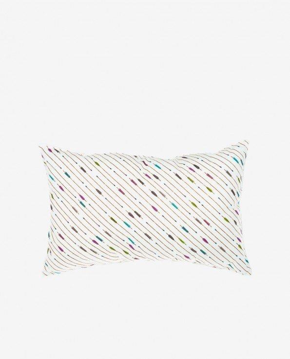 Прямоугольная декоративная подушка из 100% хлопка