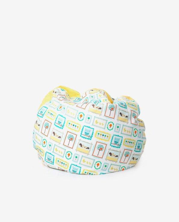 Пуфик-подушка для детской комнаты из ткани