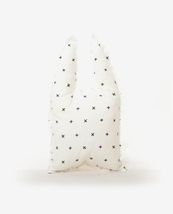 Декоративная подушка для игр в форме зайчика