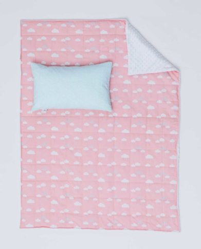 Детский постельный комплект «Облака» (Розовый)