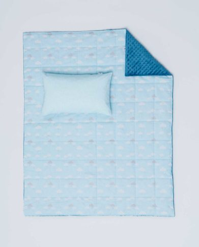 Детский постельный комплект «Облака» (Голубой)