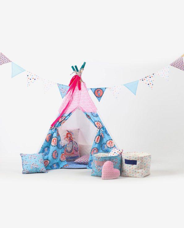 Детская вигвам палатка для девочек