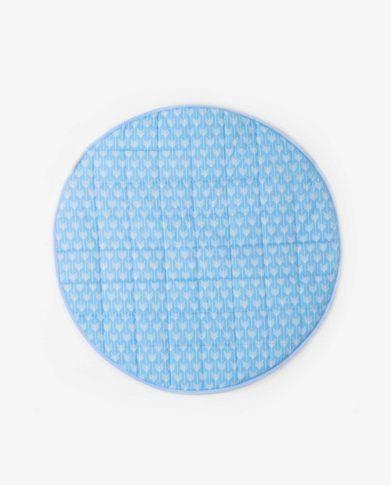 Круглый голубой мат