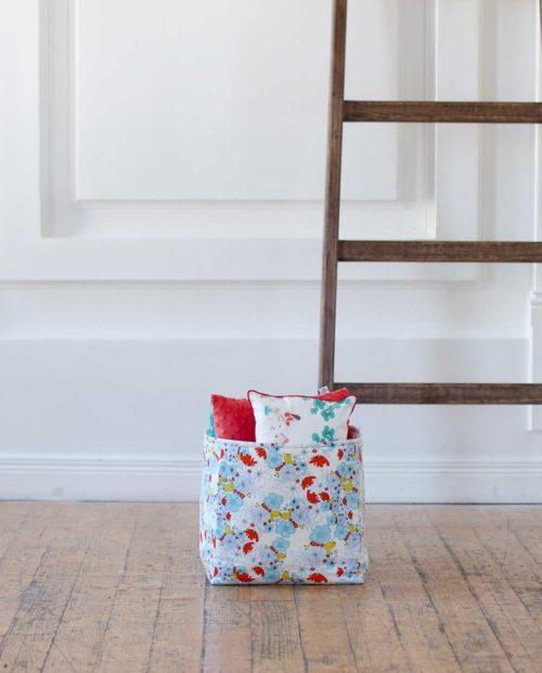 Тканевая корзина для девочек «Водные цветы»