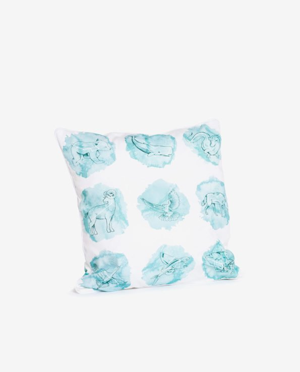 Квадратная декоративная подушка с созвездиями