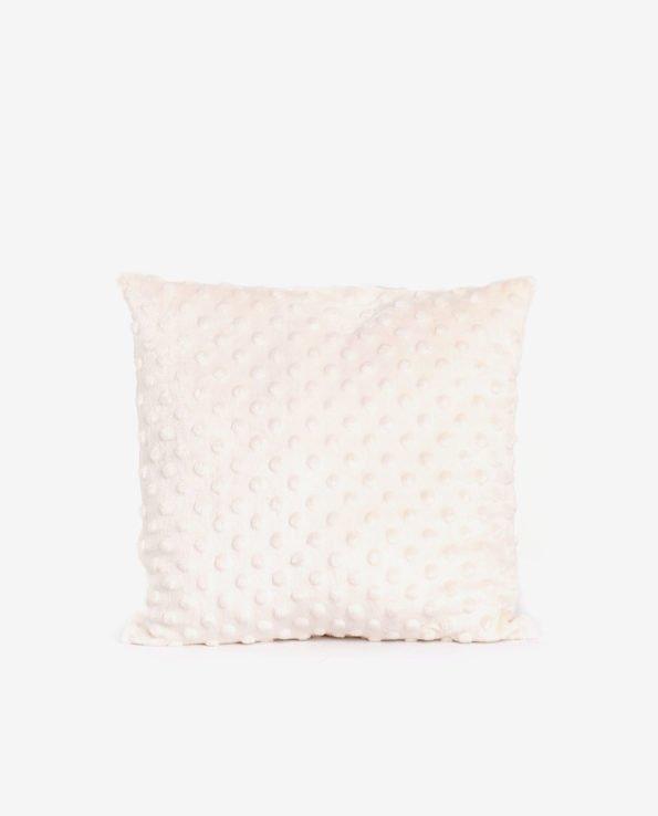 Декоративная подушка из мягкого белого плюша
