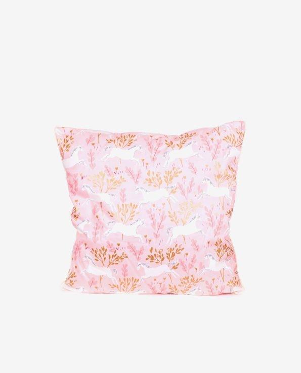 Декоративная квадратная подушка «Единорожки»