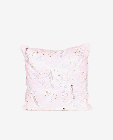 Декоративная квадратная подушка «Звездные русалочки»