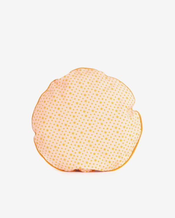 Круглая подушка «Персиковые звезды»