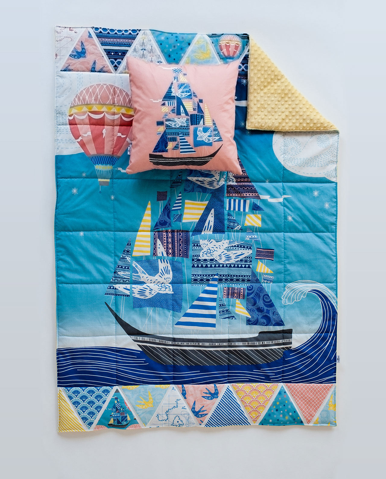 Подушка и одеяло - Комплект «Морское путешествие»