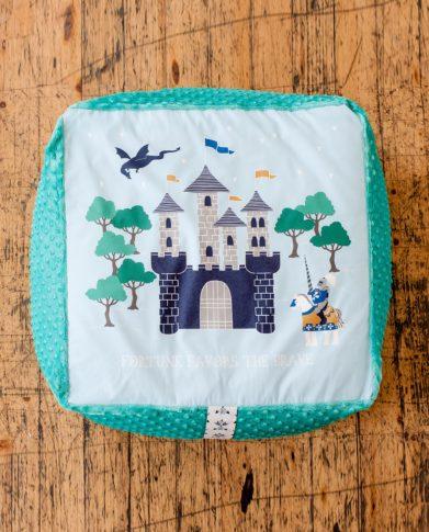Квадратный детский пуф «Волшебный замок»