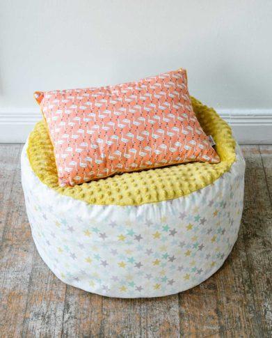 Подушка прямоугольная  «Гусочки — грейпфрут»