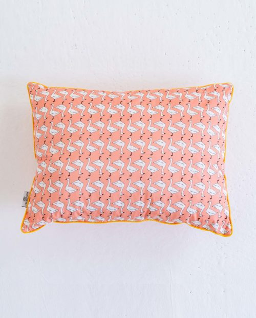 Подушка прямоугольная  «Гусочки – грейпфрут»