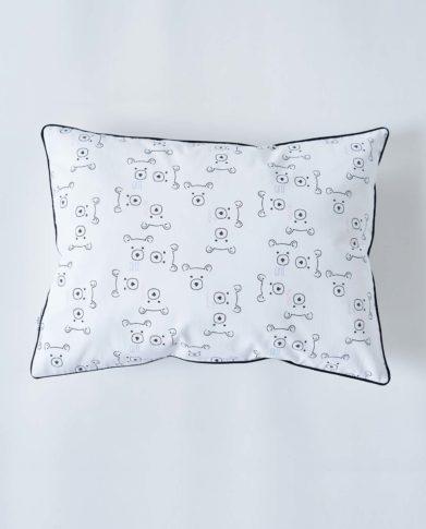 Подушка черно-белая «Сute Teddy»