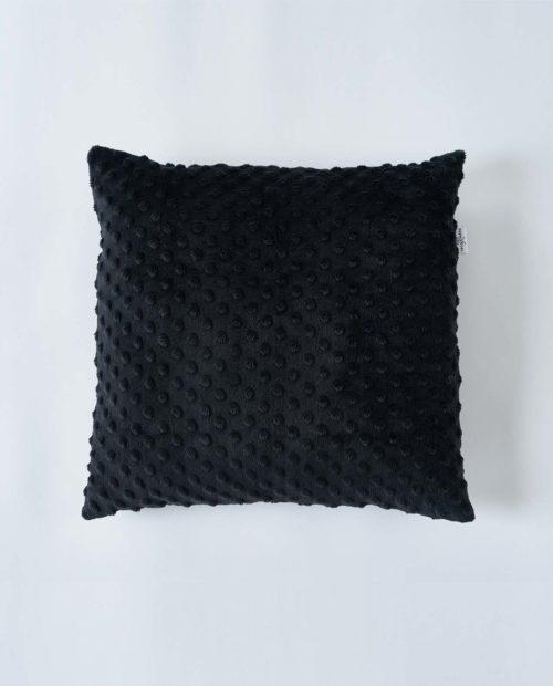 Подушка квадратная «Minky – Black»
