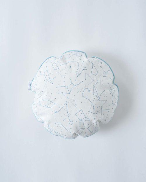 Круглая подушка «Звездное небо – Голубой»