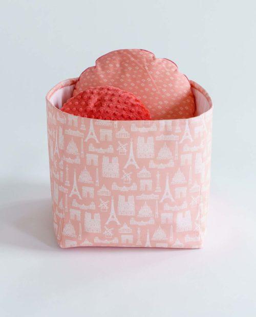Корзинка для игрушек «Париж – Peach»