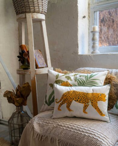 Декоративные подушки «Леопард» — коллекция «Джунгли»