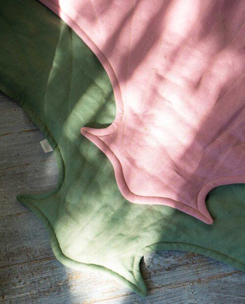 Льняной матрас-ракушка «Артишок» — коллекция «Джунгли»